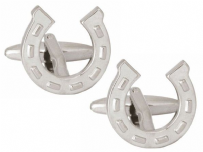 Dalaco 90-1368 Horseshoe Rhodium Plated Cufflinks